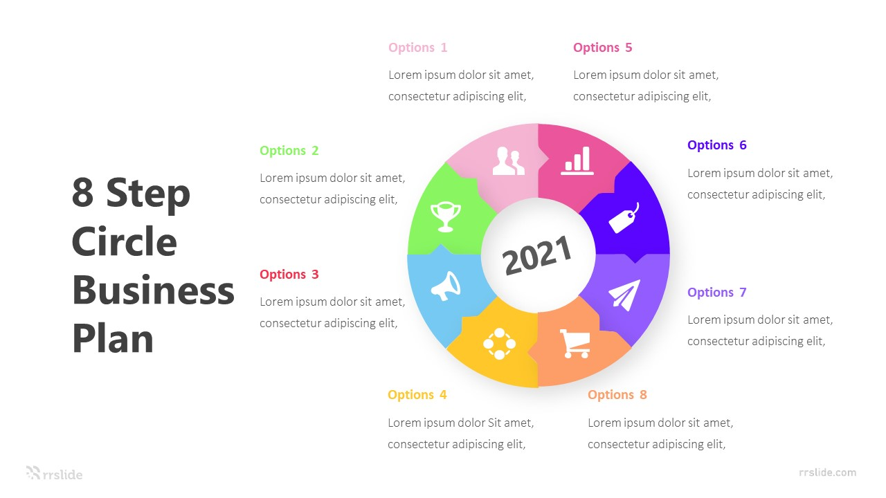 8 Step Circle Business Plan Infographic Template