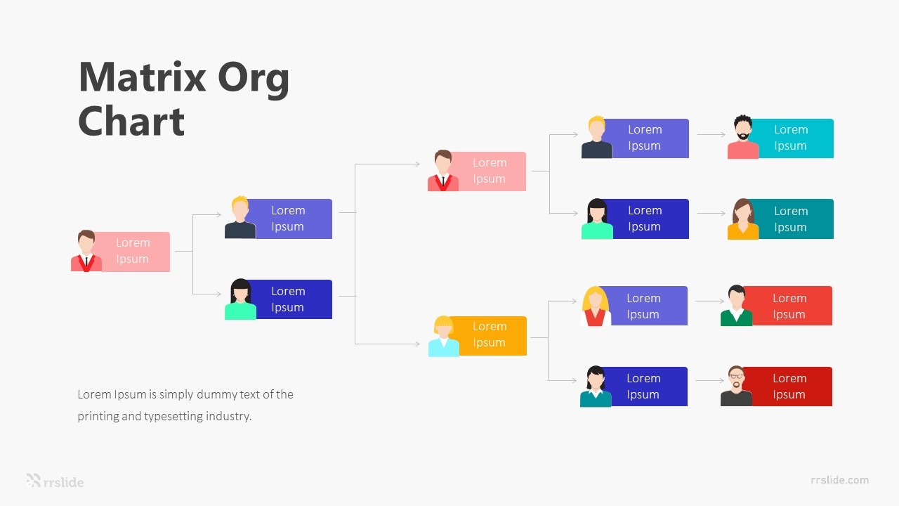 9 Matrix Org Chart Infographic Template