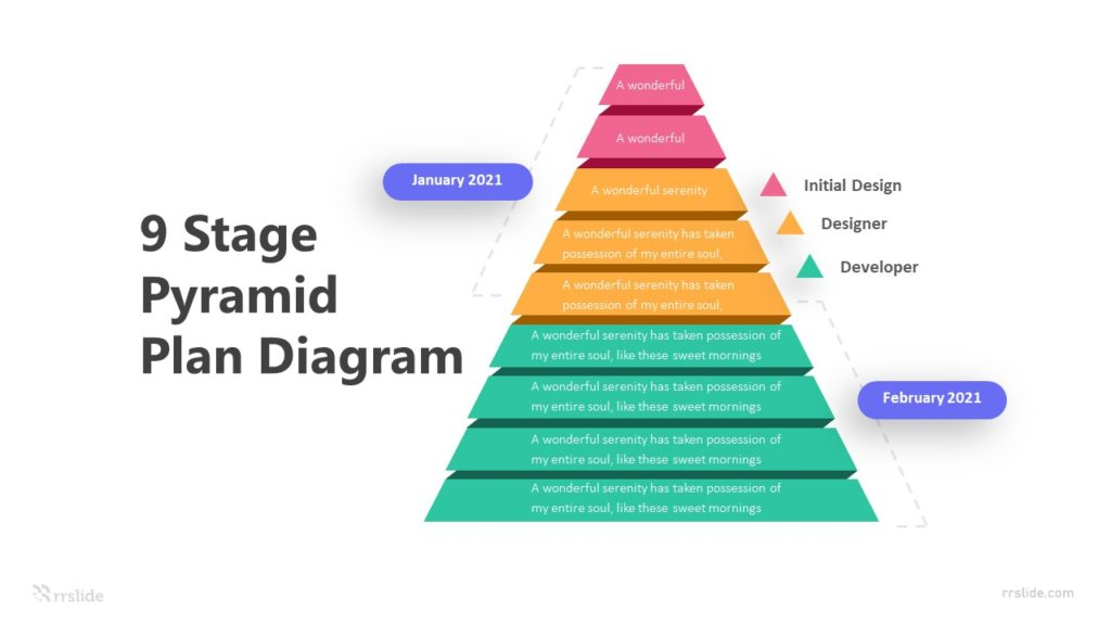 9 Stage Pyramid Plan Diagram Infographic Template