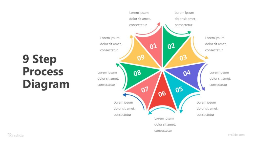 9 Step Process Diagram Infographic Template