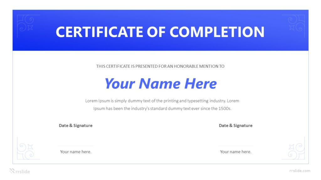 Certificate Of Completion Infographic Template