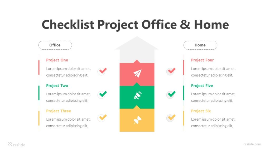 Checklist Project Office & Home Infographic Template