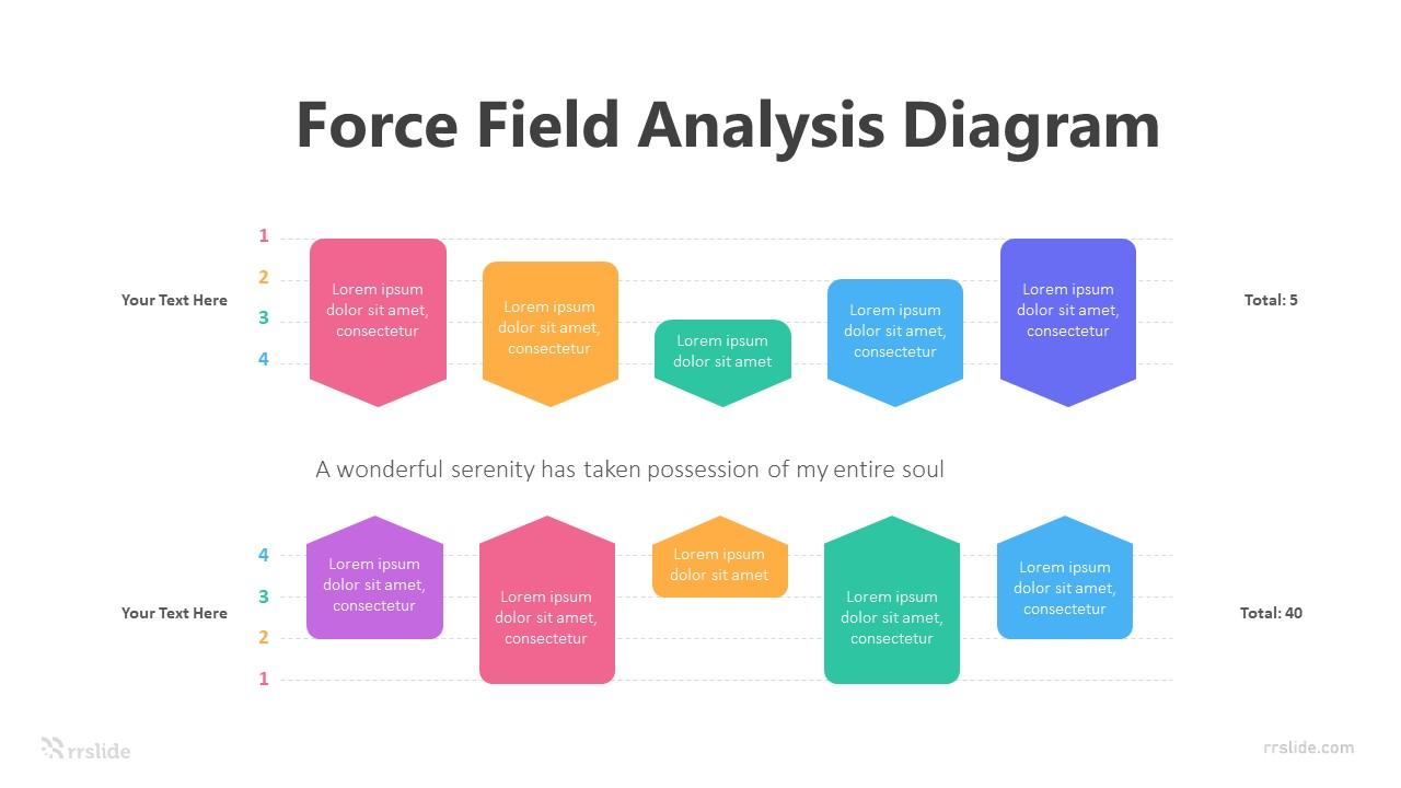 Force Field Analysis Diagram Infographic Template