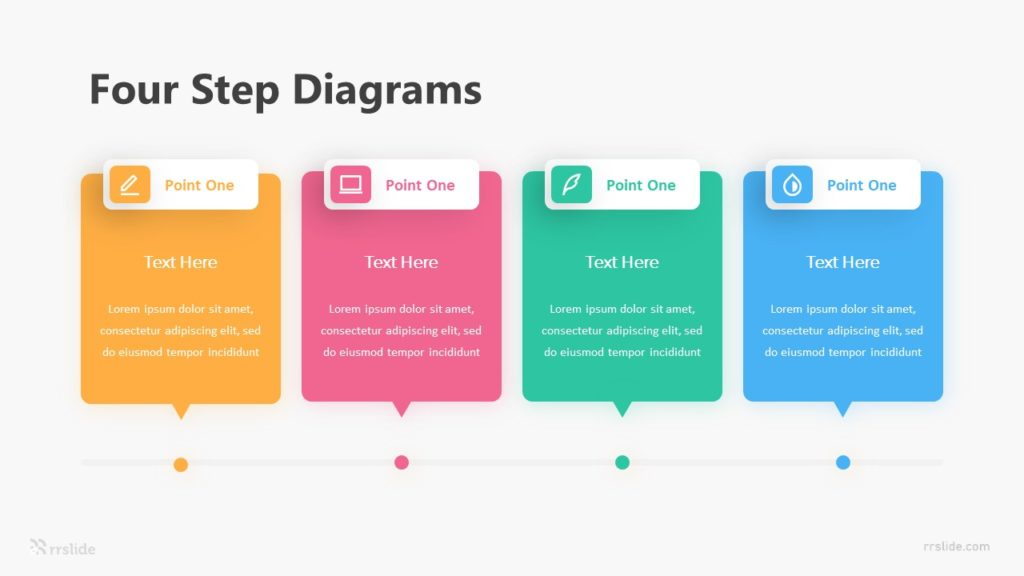 Four Step Diagrams Infographic Template