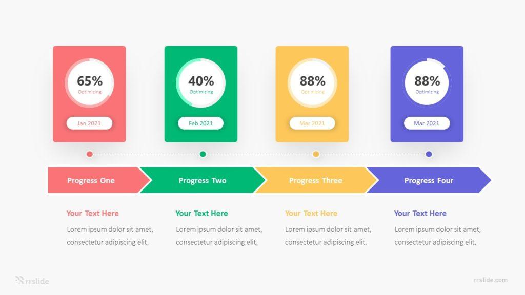 4 Point Progress Bar Infograpic Template
