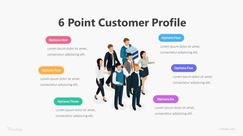 6 Point Customer Profile Infographic Template