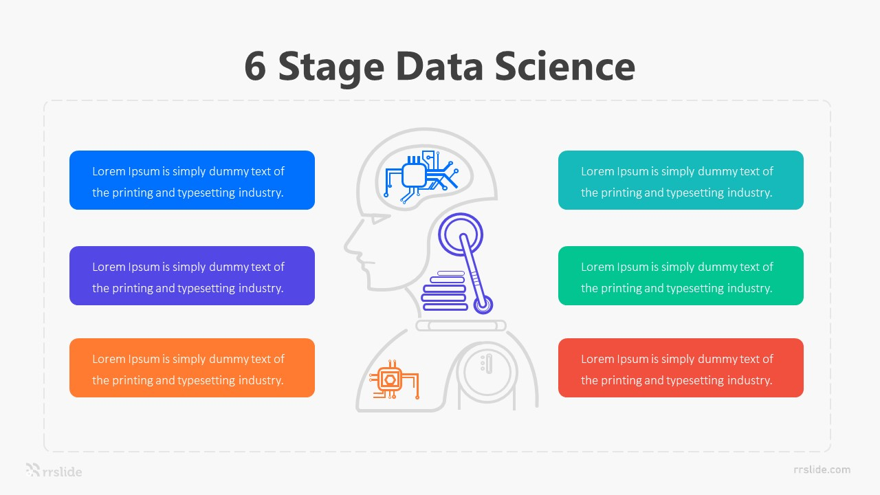 6 Stage Data Science Infographic Template