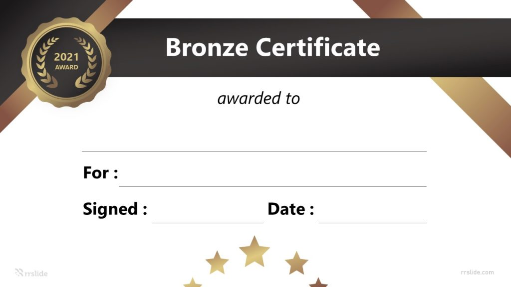 Free Bronze Certificate Infographic Template