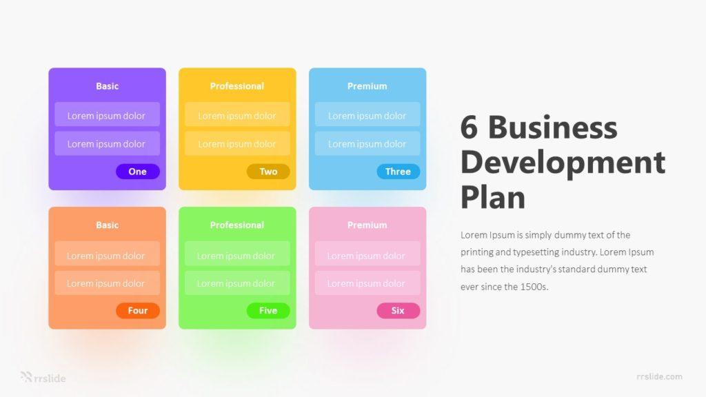 6 Business Development Plan Infographic Template
