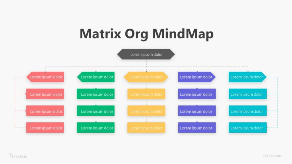 5 Matrix Org Mindmap Infographic Template