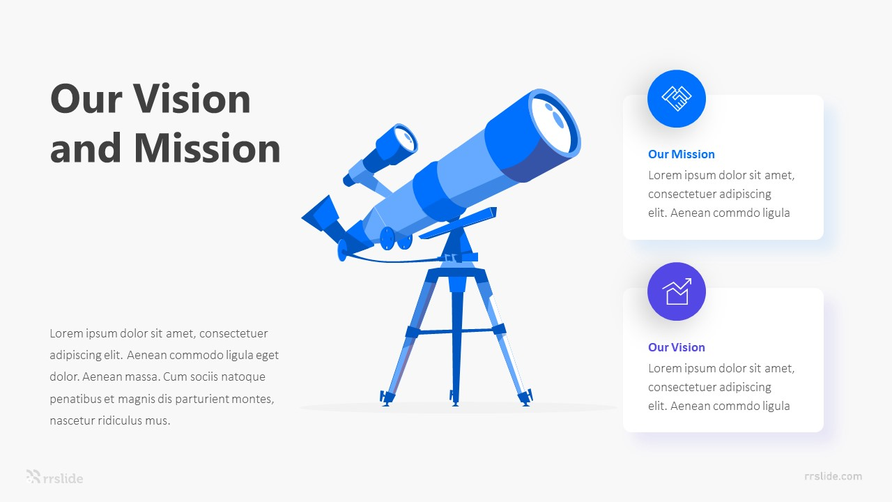 2 Our Vision And Mission Infographic Template