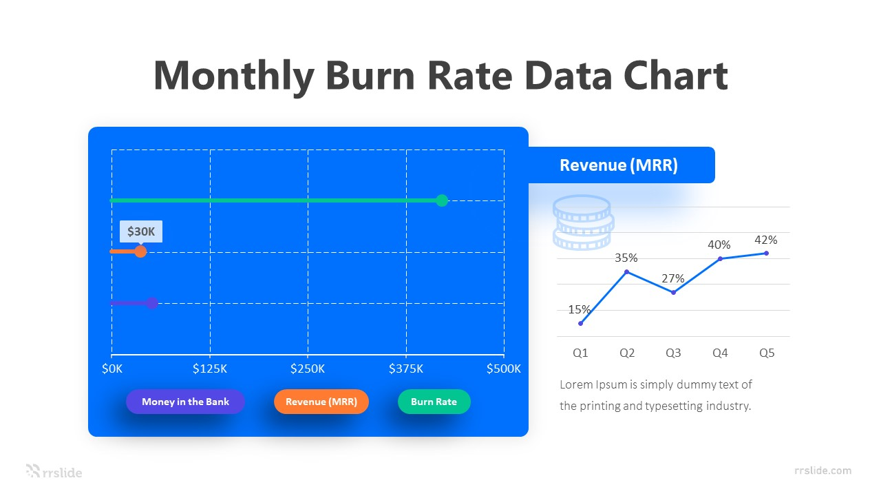 Monthly Burn Rate Data Chart Infographic Template