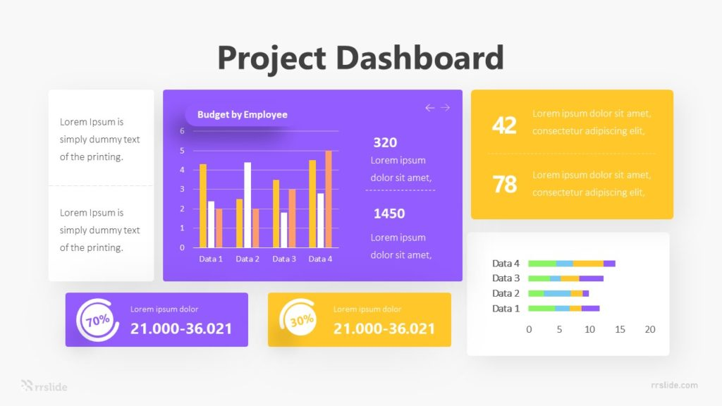 Project Dashboard Infographic Template