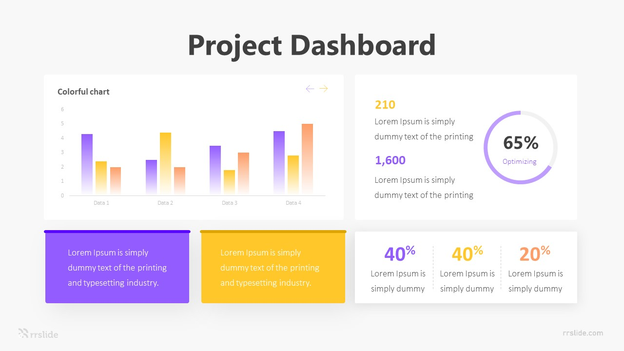 Project Dashboar Infographic Template