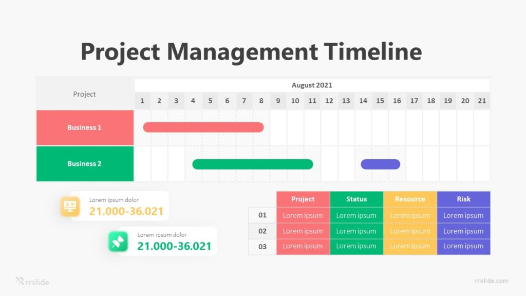 Project Management Timeline Infographic Template