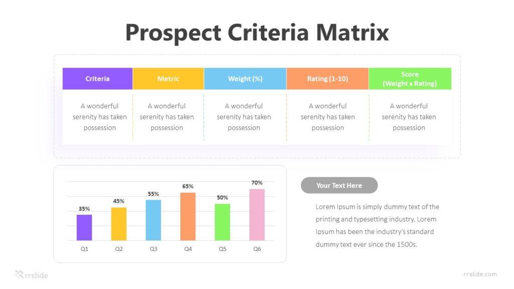 Prospect Criteria Matrix Infographic Template