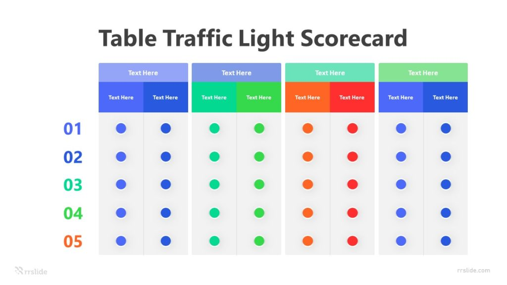 4 Step Balance Scorecard Strategy Map Infographic Template
