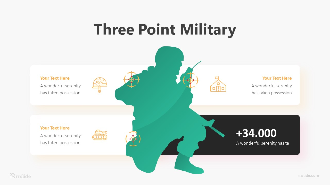 Three Point Military Infographic Template
