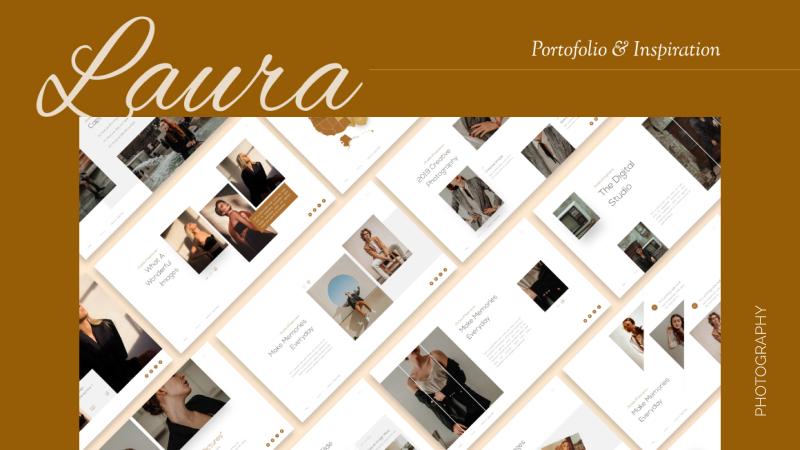 Laura Lens Portfolio PowerPoint Template