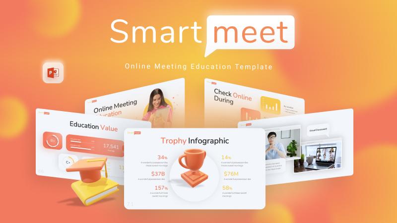 Smartmeet Online Meeting PowerPoint Template