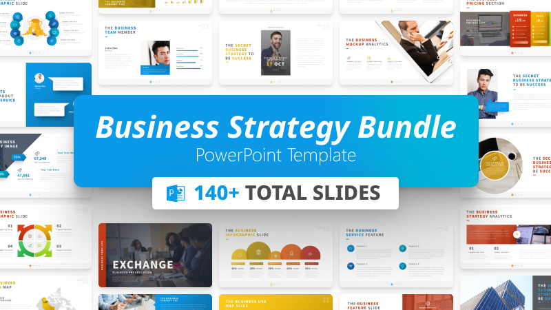 140+ Business Strategy PowerPoint Template