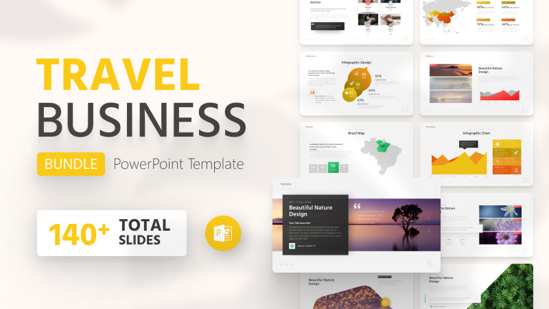 140+ Travel Business PowerPoint Template