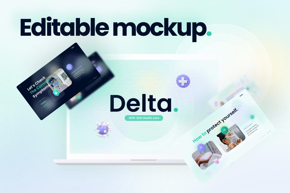 Delta Corona Virus PowerPoint Template