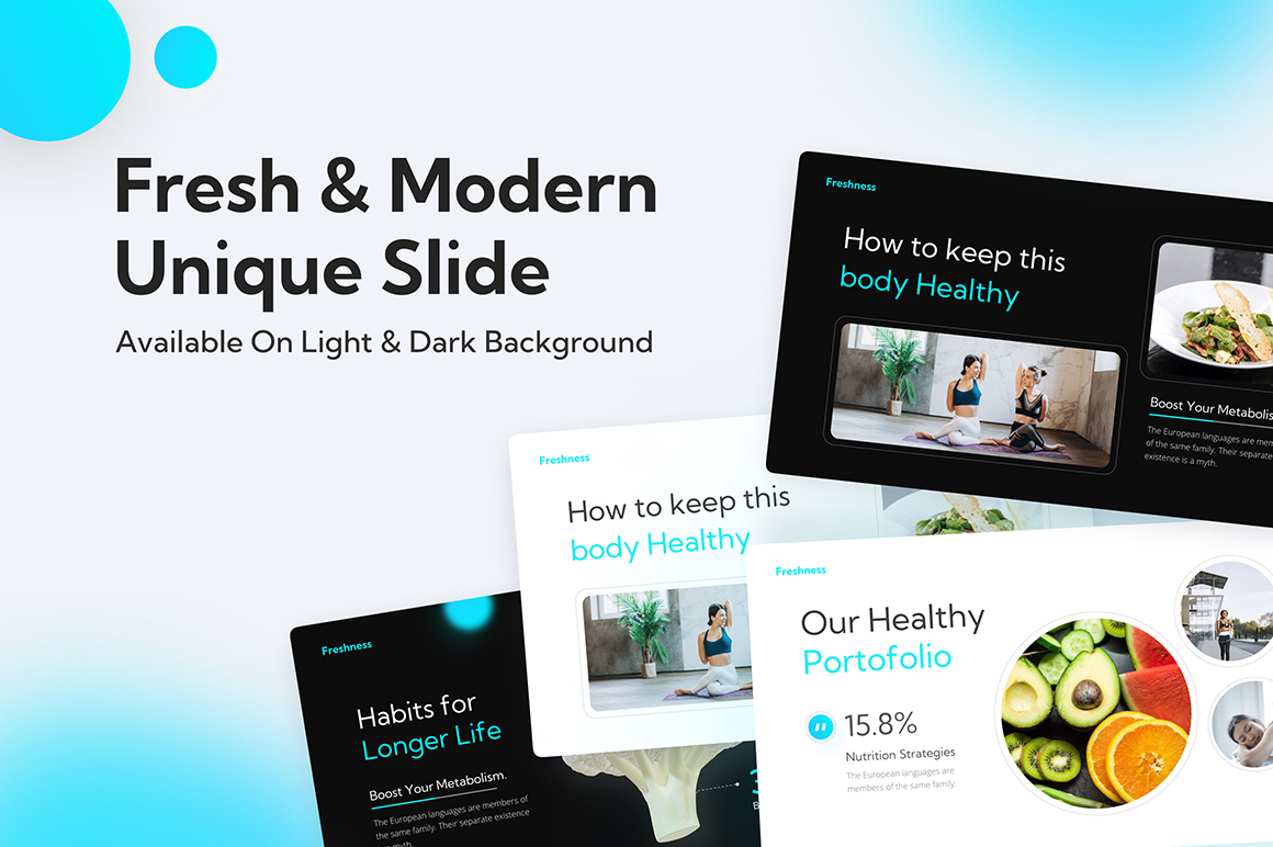 Freshness Healthy Lifestyle PowerPoint Template
