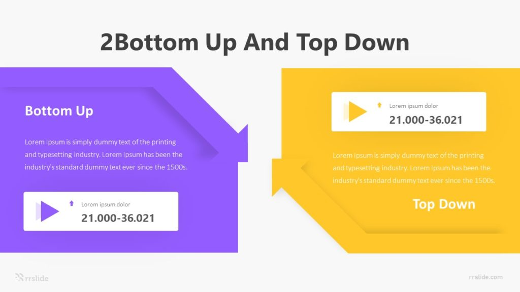 2 Bottom Up And Top Down Infographic Template
