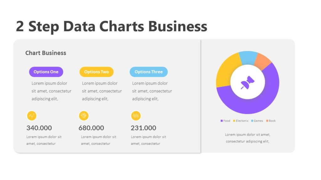 2 Step Data Charts Business Infographic Template