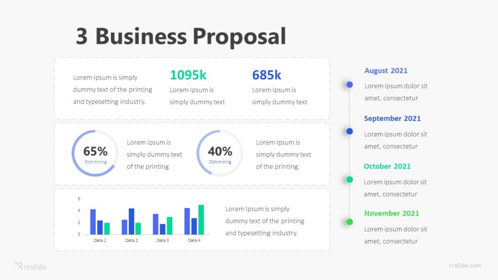3 Business Proposal Infographic Template