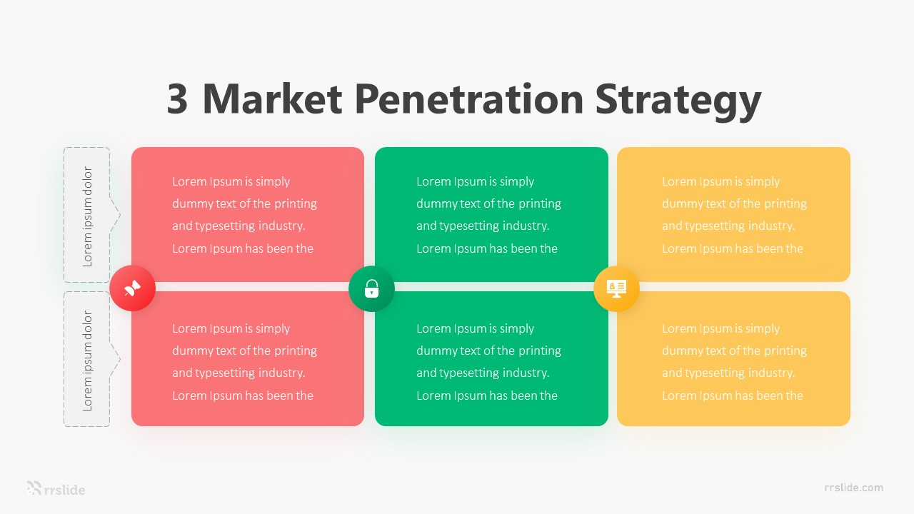 3 Market Penetration Strategy Infographic Template