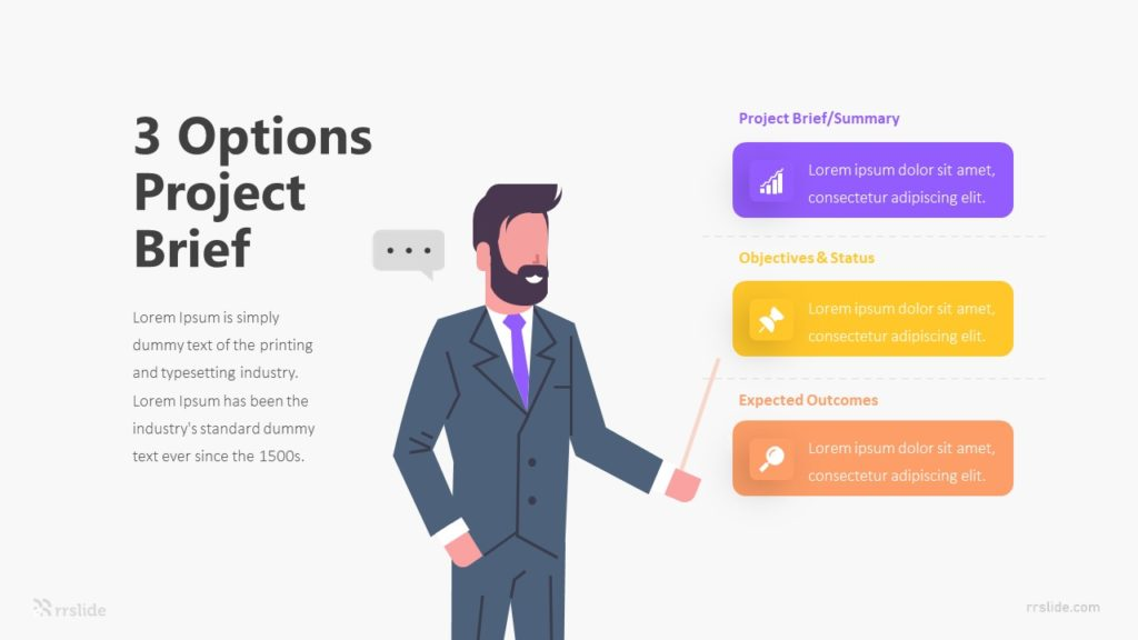 3 Options Project Brief Infographic Template