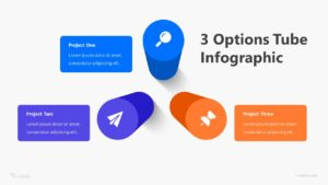 3 Options Tube Infographic Template