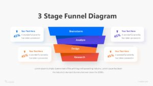 3 Stage Funnel Diagram Infographic Template