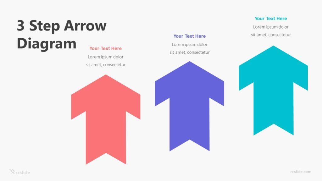 3 Step Arrow Diagram Infographic Template