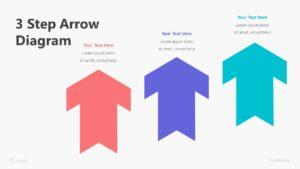 3 Step Arrow Diagram Infographic