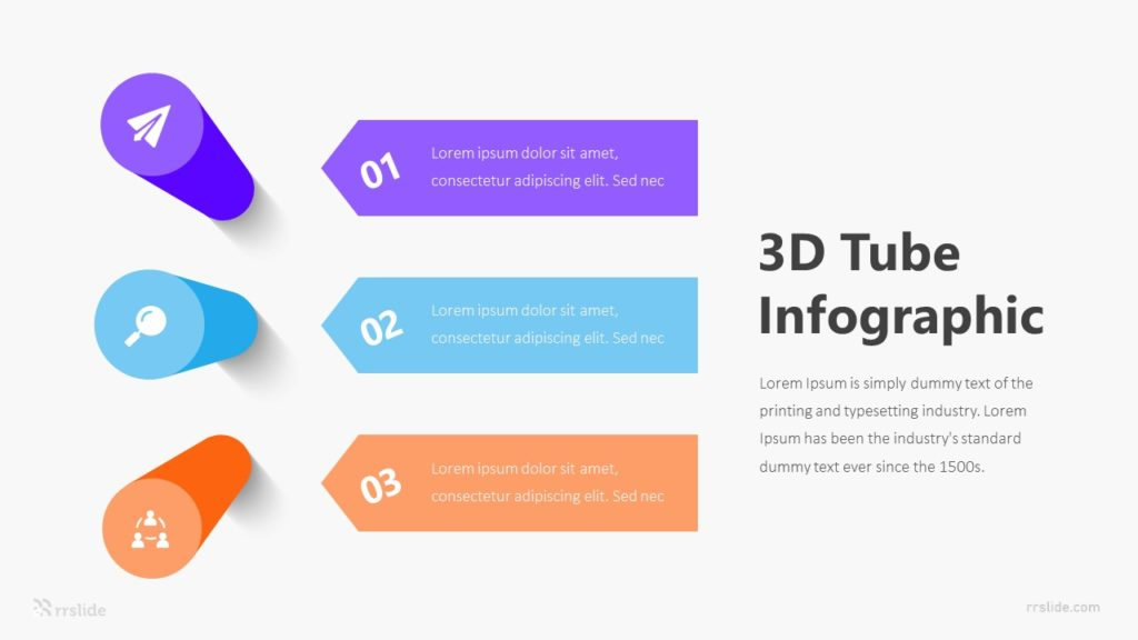 3D Tube Infographic Template
