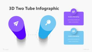 3D Two Tube Infographic Template