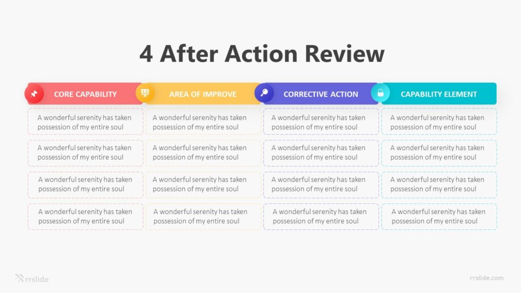4 After Action Review Infographic Template