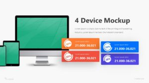 4 Device Mockup Infographic Template