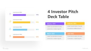 4 Investor Pitch Deck Table Infographic Template