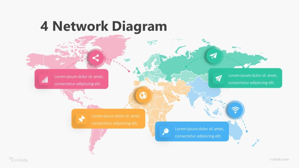 4 Network Diagram Infographic Template