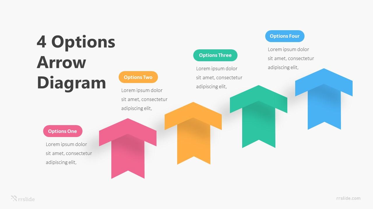 4 Options Arrow Diagram Infographic Template