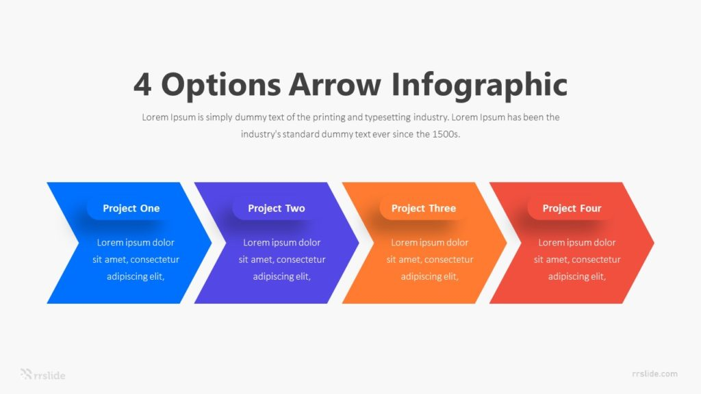 4 Options Arrow Infographic Template