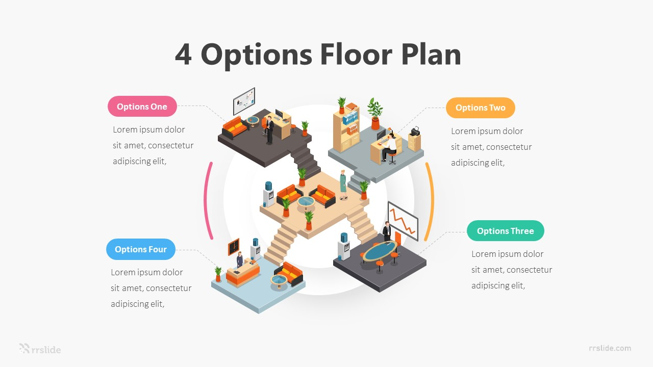 4 Options Floor Plan Infographic Template