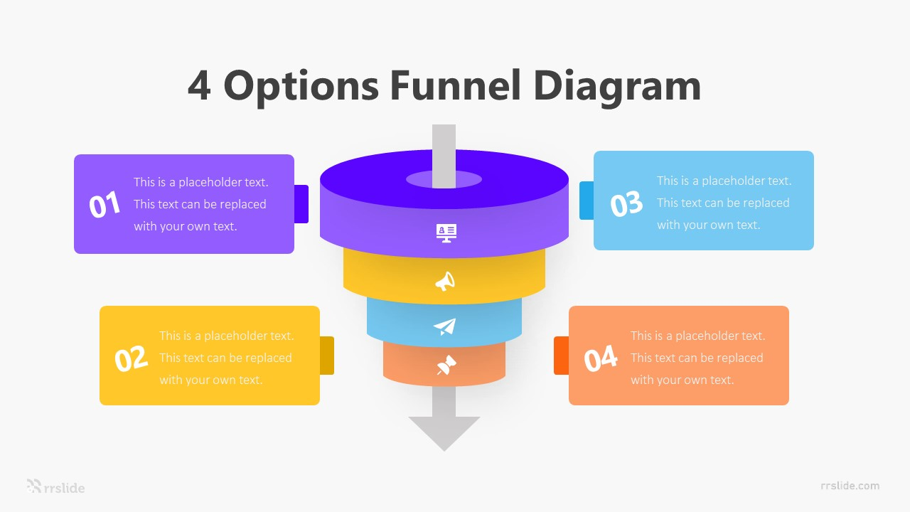4 Options Funnel Diagram Infographic Template