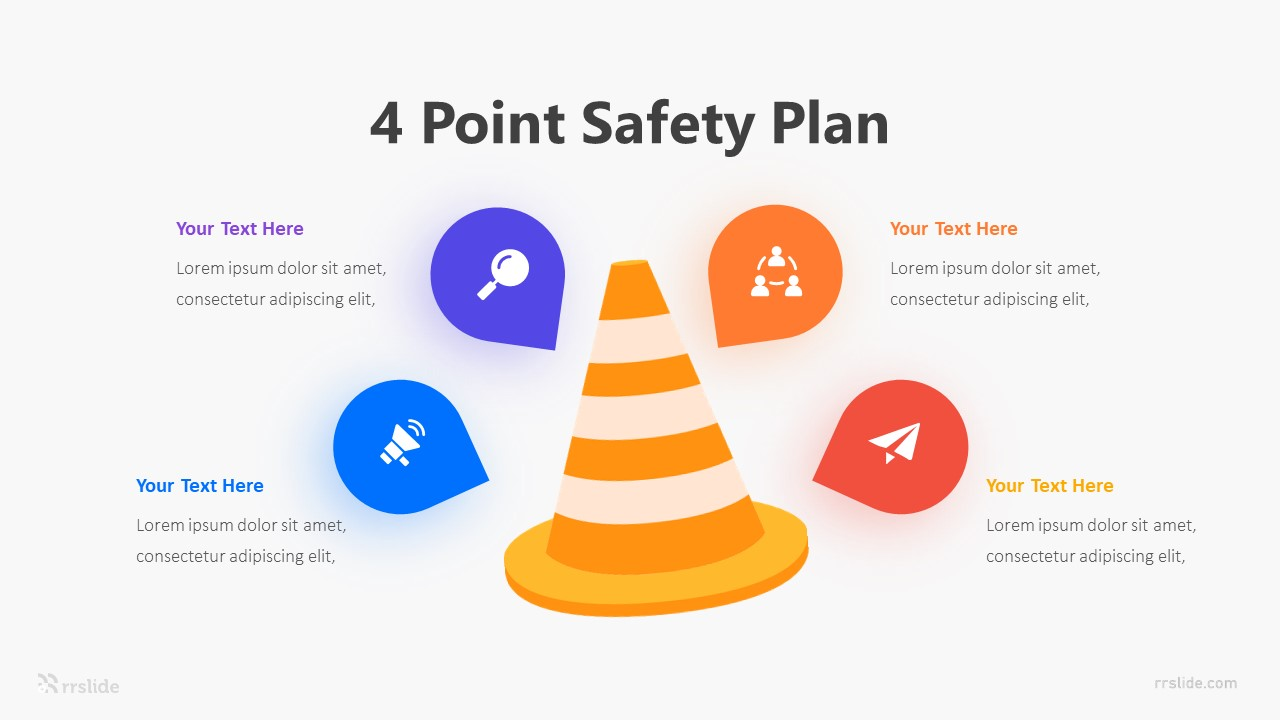 4 Point Safety Plan Infographic Template
