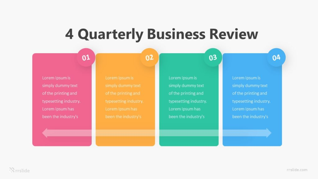 4 Quarterly Business Review Infographic Template