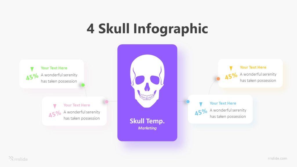 4 Skull Infographic Template